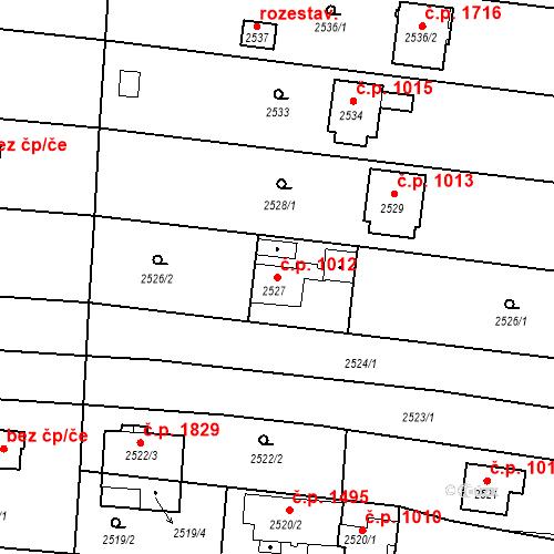 Katastrální mapa Stavební objekt České Budějovice 6 1012, České Budějovice