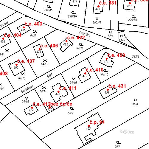 Katastrální mapa Stavební objekt Černolice 410, Černolice