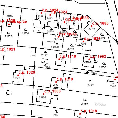 Katastrální mapa Stavební objekt České Budějovice 6 1719, České Budějovice