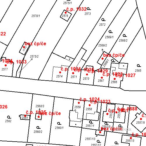 Katastrální mapa Stavební objekt České Budějovice 6 1030, České Budějovice