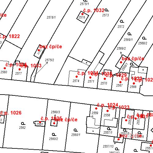 Katastrální mapa Stavební objekt České Budějovice 6 1031, České Budějovice