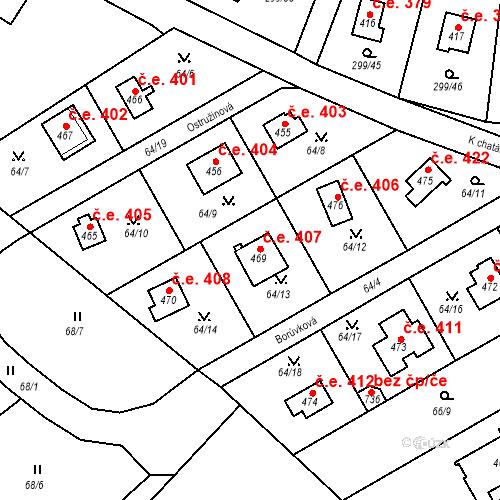 Katastrální mapa Stavební objekt Černolice 407, Černolice