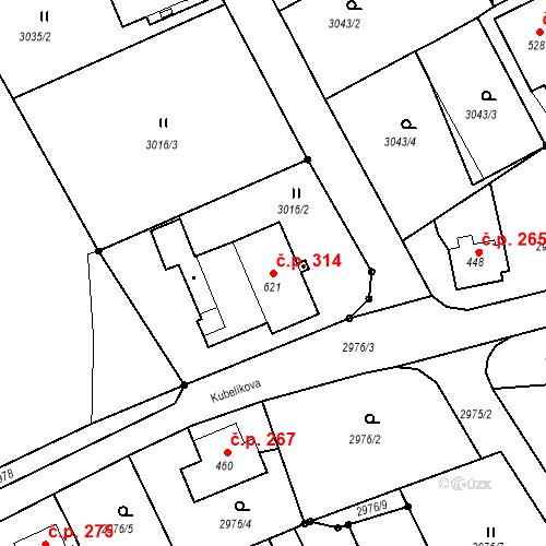 Katastrální mapa Stavební objekt Jílové 314, Jílové