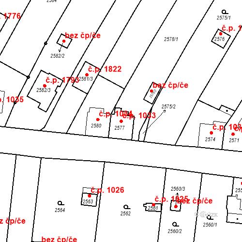 Katastrální mapa Stavební objekt České Budějovice 6 1033, České Budějovice