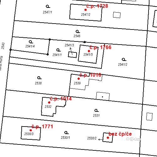 Katastrální mapa Stavební objekt České Budějovice 6 1016, České Budějovice