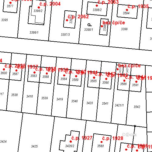 Katastrální mapa Stavební objekt České Budějovice 6 1941, České Budějovice