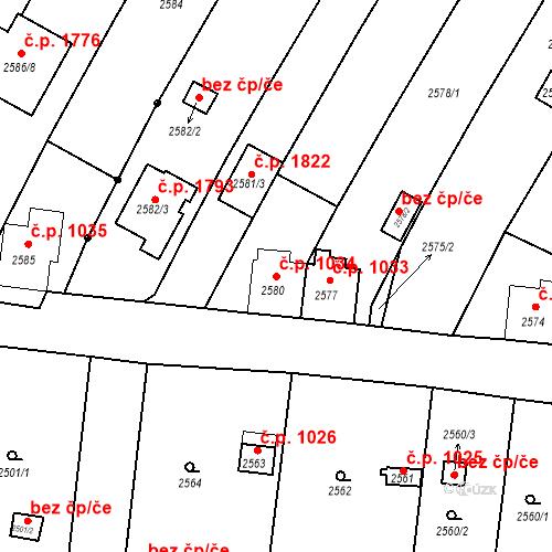Katastrální mapa Stavební objekt České Budějovice 6 1034, České Budějovice