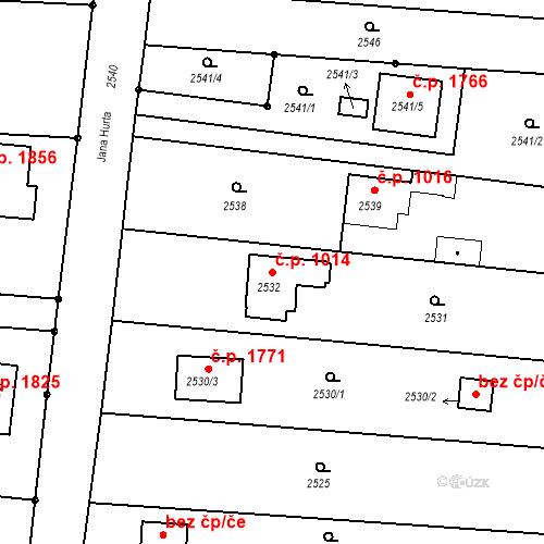 Katastrální mapa Stavební objekt České Budějovice 6 1014, České Budějovice