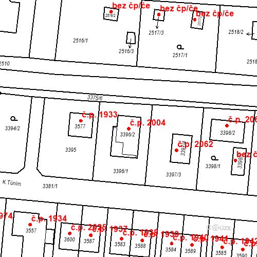Katastrální mapa Stavební objekt České Budějovice 6 2004, České Budějovice
