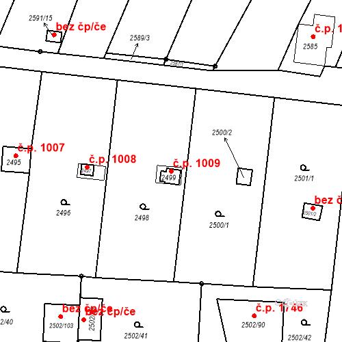 Katastrální mapa Stavební objekt České Budějovice 6 1009, České Budějovice