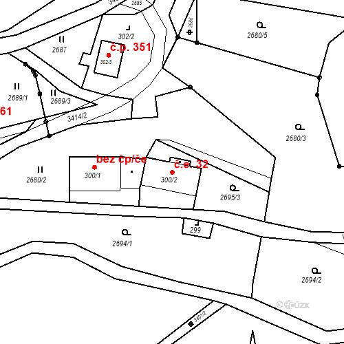 Katastrální mapa Stavební objekt Jílové 32, Jílové