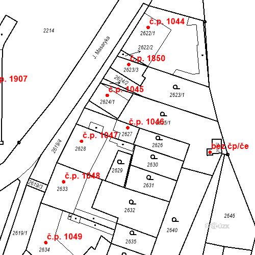 Katastrální mapa Stavební objekt České Budějovice 6 1046, České Budějovice