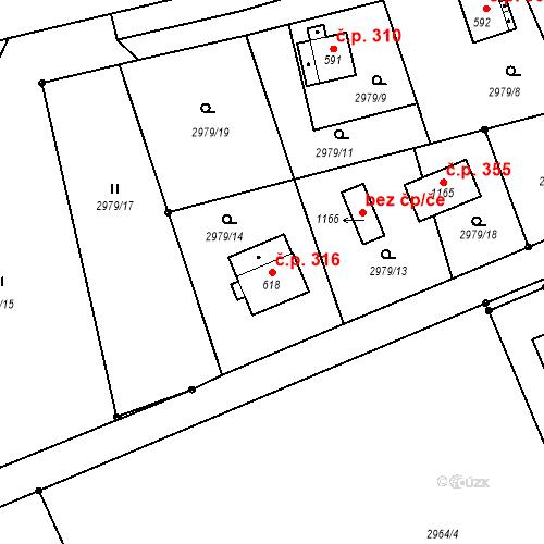 Katastrální mapa Stavební objekt Jílové 316, Jílové