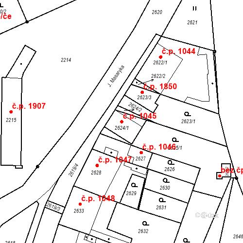 Katastrální mapa Stavební objekt České Budějovice 6 1045, České Budějovice
