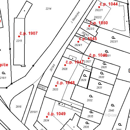 Katastrální mapa Stavební objekt České Budějovice 6 1047, České Budějovice