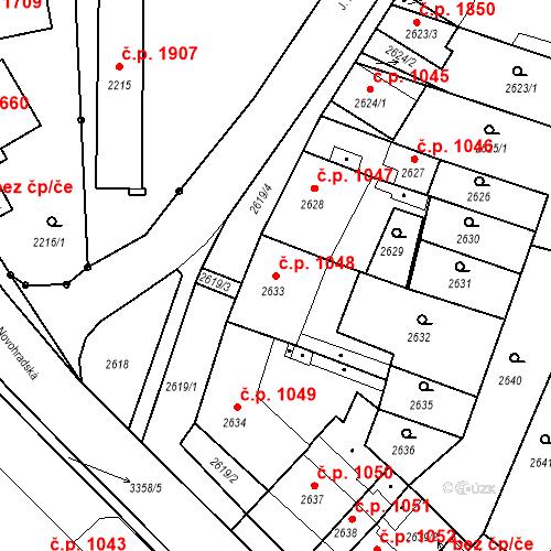 Katastrální mapa Stavební objekt České Budějovice 6 1048, České Budějovice