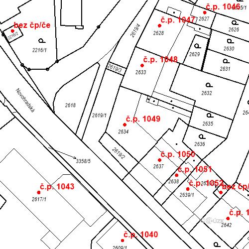 Katastrální mapa Stavební objekt České Budějovice 6 1049, České Budějovice