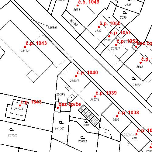 Katastrální mapa Stavební objekt České Budějovice 6 1040, České Budějovice
