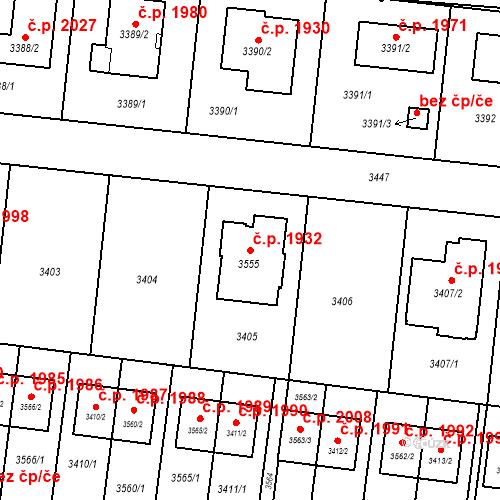 Katastrální mapa Stavební objekt České Budějovice 6 1932, České Budějovice