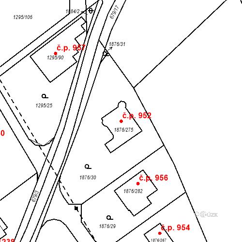 Katastrální mapa Stavební objekt Dobřichovice 952, Dobřichovice