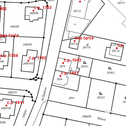Katastrální mapa Stavební objekt České Budějovice 6 1042, České Budějovice