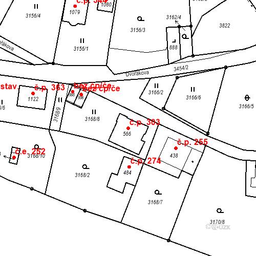 Katastrální mapa Stavební objekt Jílové 303, Jílové
