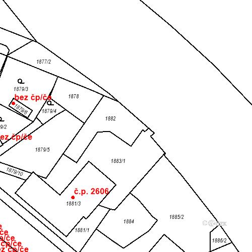 Katastrální mapa Stavební objekt České Budějovice 3 552