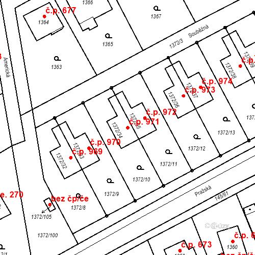 Katastrální mapa Stavební objekt Dobřichovice 971, Dobřichovice