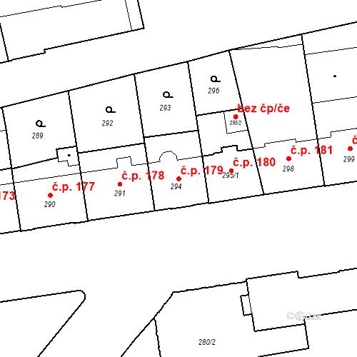 Katastrální mapa Stavební objekt České Budějovice 6 179, České Budějovice