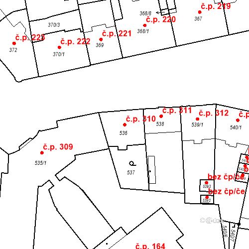 Katastrální mapa Stavební objekt České Budějovice 6 310, České Budějovice