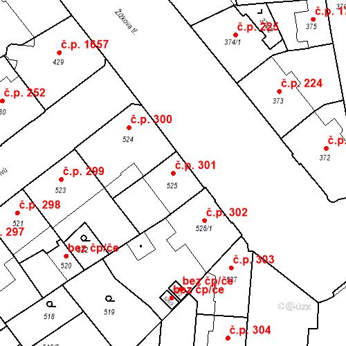 Katastrální mapa Stavební objekt České Budějovice 6 301, České Budějovice
