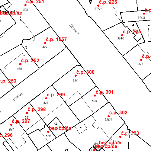 Katastrální mapa Stavební objekt České Budějovice 6 300, České Budějovice