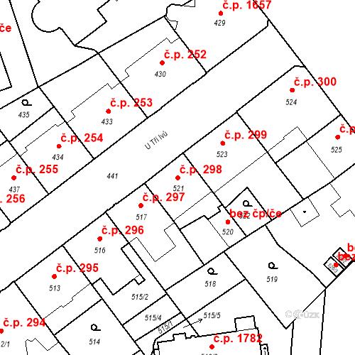 Katastrální mapa Stavební objekt České Budějovice 6 298, České Budějovice