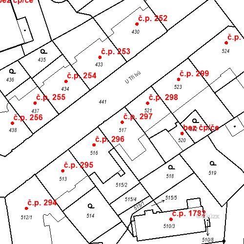 Katastrální mapa Stavební objekt České Budějovice 6 297, České Budějovice