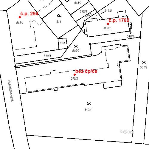 Katastrální mapa Stavební objekt České Budějovice 6 293, České Budějovice