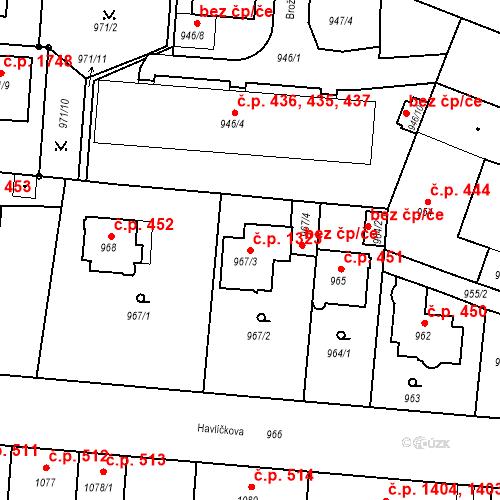 Katastrální mapa Stavební objekt České Budějovice 6 1323, České Budějovice