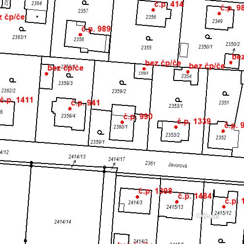 Katastrální mapa Stavební objekt České Budějovice 6 990, České Budějovice