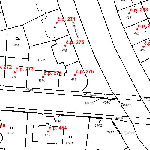 Katastrální mapa Stavební objekt České Budějovice 6 276, České Budějovice