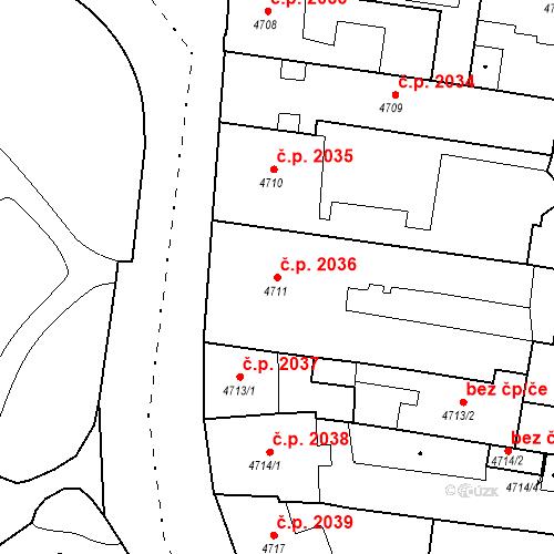 Katastrální mapa Stavební objekt České Budějovice 3 2036, České Budějovice