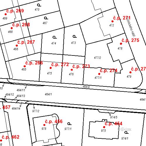 Katastrální mapa Stavební objekt České Budějovice 6 273, České Budějovice