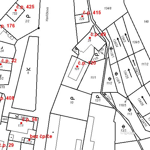 Katastrální mapa Stavební objekt Bohušovice nad Ohří 120, Bohušovice nad Ohří