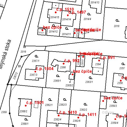Katastrální mapa Stavební objekt České Budějovice 6 992, České Budějovice