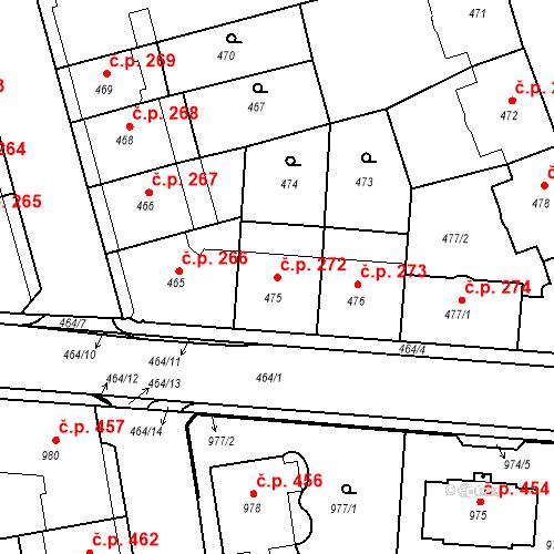 Katastrální mapa Stavební objekt České Budějovice 6 272, České Budějovice