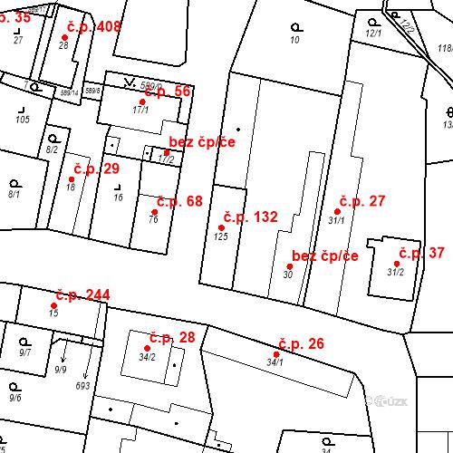 Katastrální mapa Stavební objekt Bohušovice nad Ohří 132, Bohušovice nad Ohří