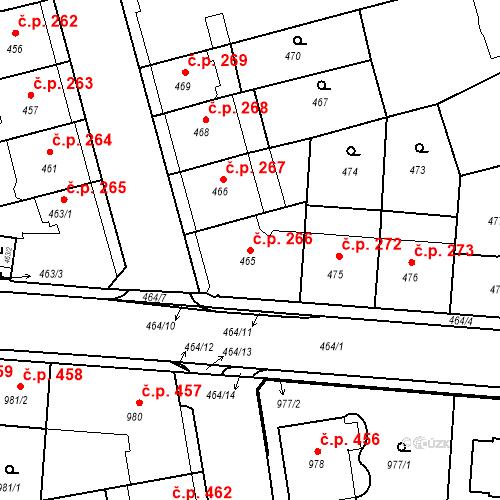 Katastrální mapa Stavební objekt České Budějovice 6 266, České Budějovice
