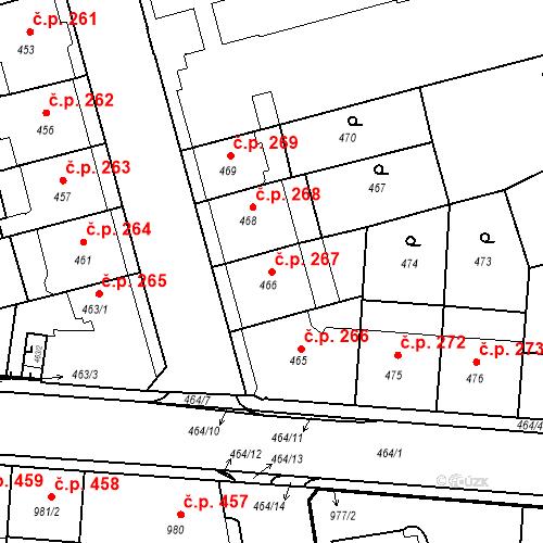 Katastrální mapa Stavební objekt České Budějovice 6 267, České Budějovice