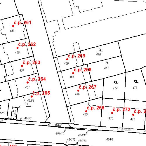 Katastrální mapa Stavební objekt České Budějovice 6 268, České Budějovice
