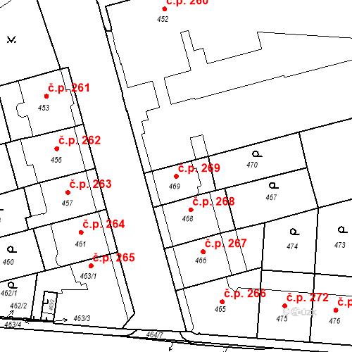 Katastrální mapa Stavební objekt České Budějovice 6 269, České Budějovice