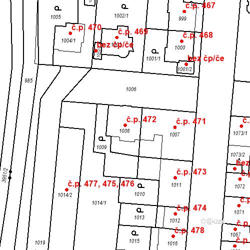 Katastrální mapa Stavební objekt České Budějovice 6 472, České Budějovice