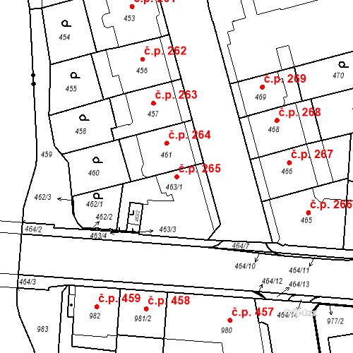 Katastrální mapa Stavební objekt České Budějovice 6 265, České Budějovice